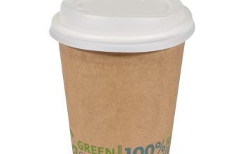 A Green Choice double-walled takeaway beverage cup