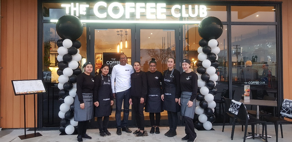 The owners and staff of the new Coffee Club Cambridge