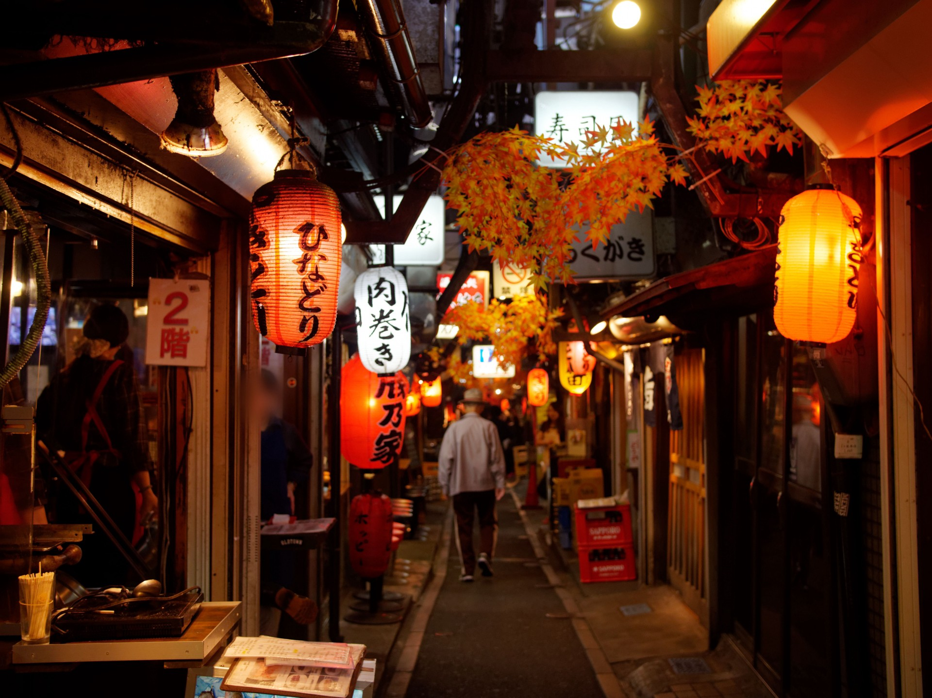 Side-street restaurants in Japan
