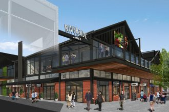 An artist's impression of the proposed Riverside Farmer's Market in Christchurch
