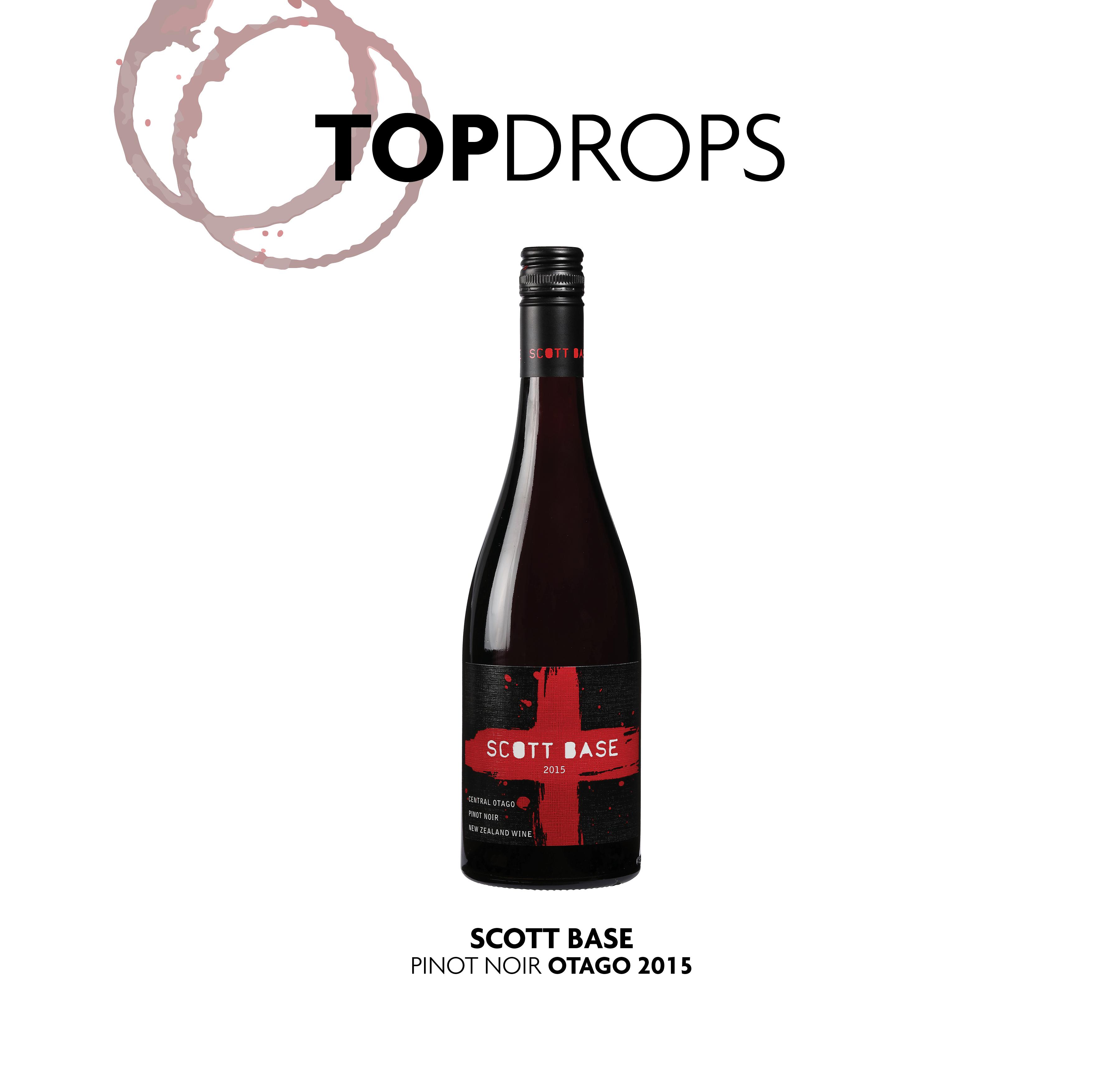 Bottle shot of Scott Base Central Otago Reserve Pinot Noir 2015