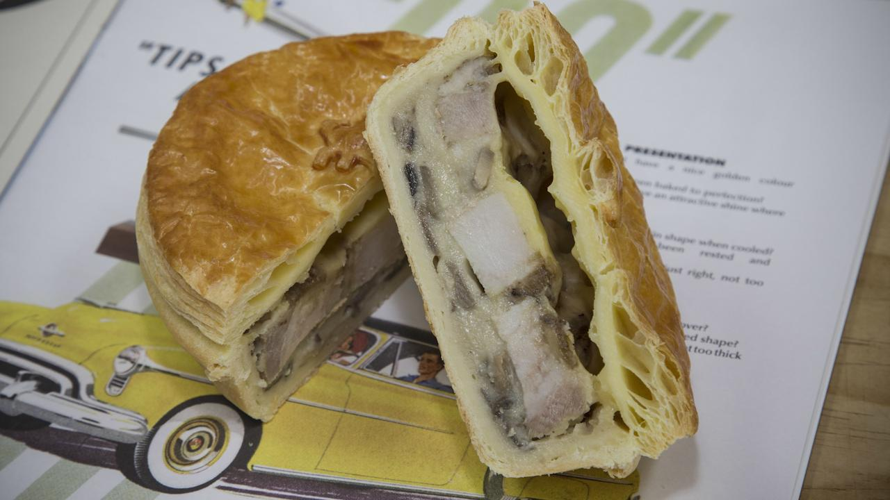 Patrick Lam's award-winning pork and mushroom pie.