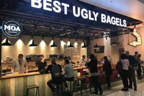 The Best Ugly Bagels storefront at Auckland Airport