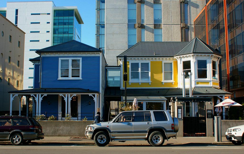 The esxterior of The Villas restaurant in Christchurch