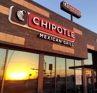 The exterior of a Chipotle Mexican Grill restaurant
