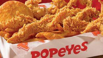 A box of Popeyes chicken