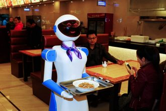 ROBOT WAITERS IN JAPAN