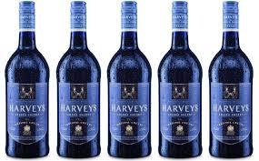 new bottles of harveys thermochromic-labelled bristol cream sherry