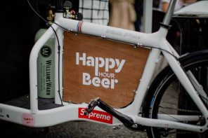 Beer bike rides into Napier