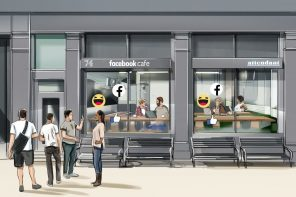 FACEBOOK'S POP-UP CAFÉS