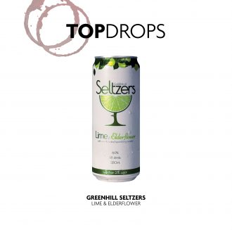 Greenhill Beverages Lime and Elderflower with Top Drops text