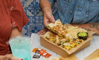 Taco Bell steak and poblano quesadilla