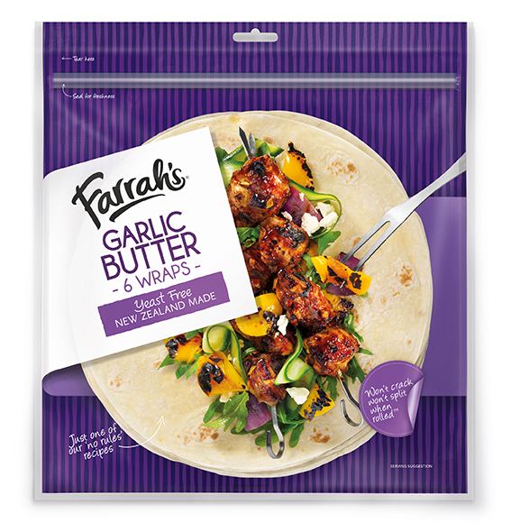 Wrap your heart around it supermarket news ahead of the healthy food curve by adding sprouted grain wraps and garlic butter wraps to its existing lineup of new zealand made bread products forumfinder Images
