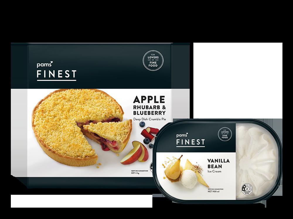 PF Apple pie and ice cream group
