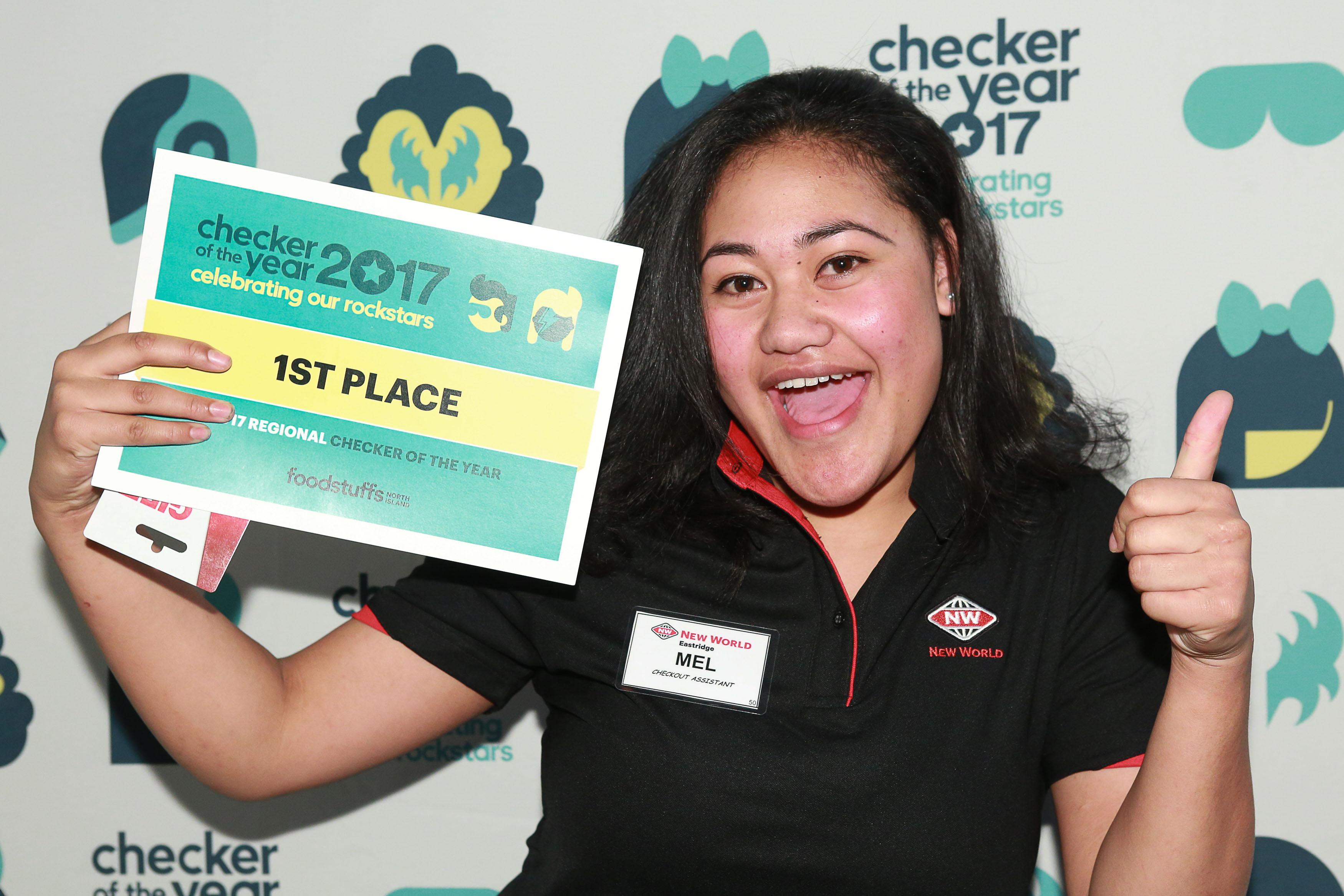Auckland Central First Place: Mels Tautaina.
