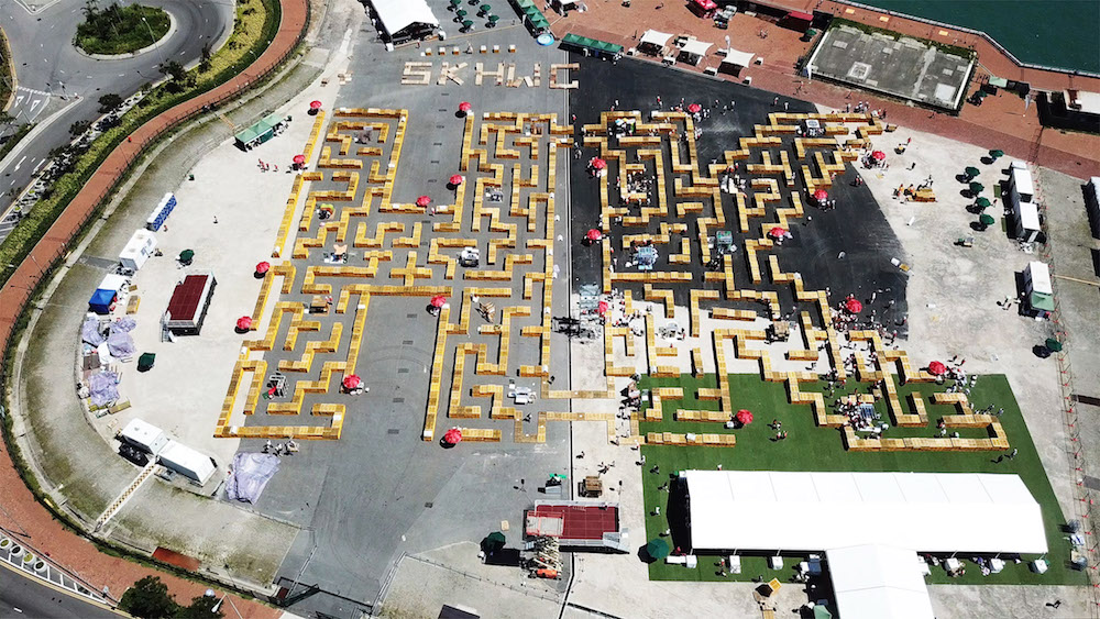 Pallet Maze view from above