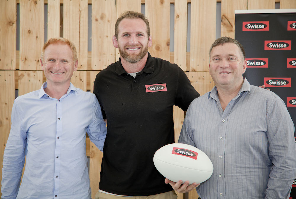 L-R Peter Muggleston, Kieran Read and Chris Quin.