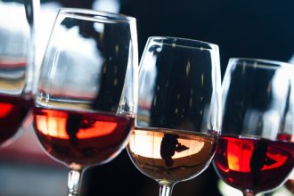 Line up of Rosé wines