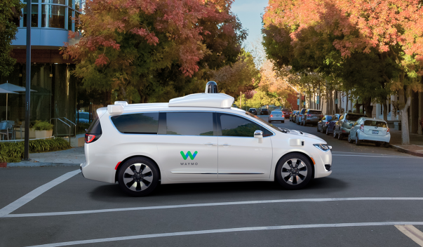 Picture of Waymo self-driving car