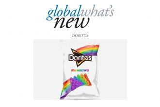 Rainbow coloured Dorito Chips