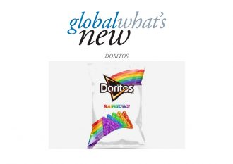 Rainbow coloured Dorito Chips