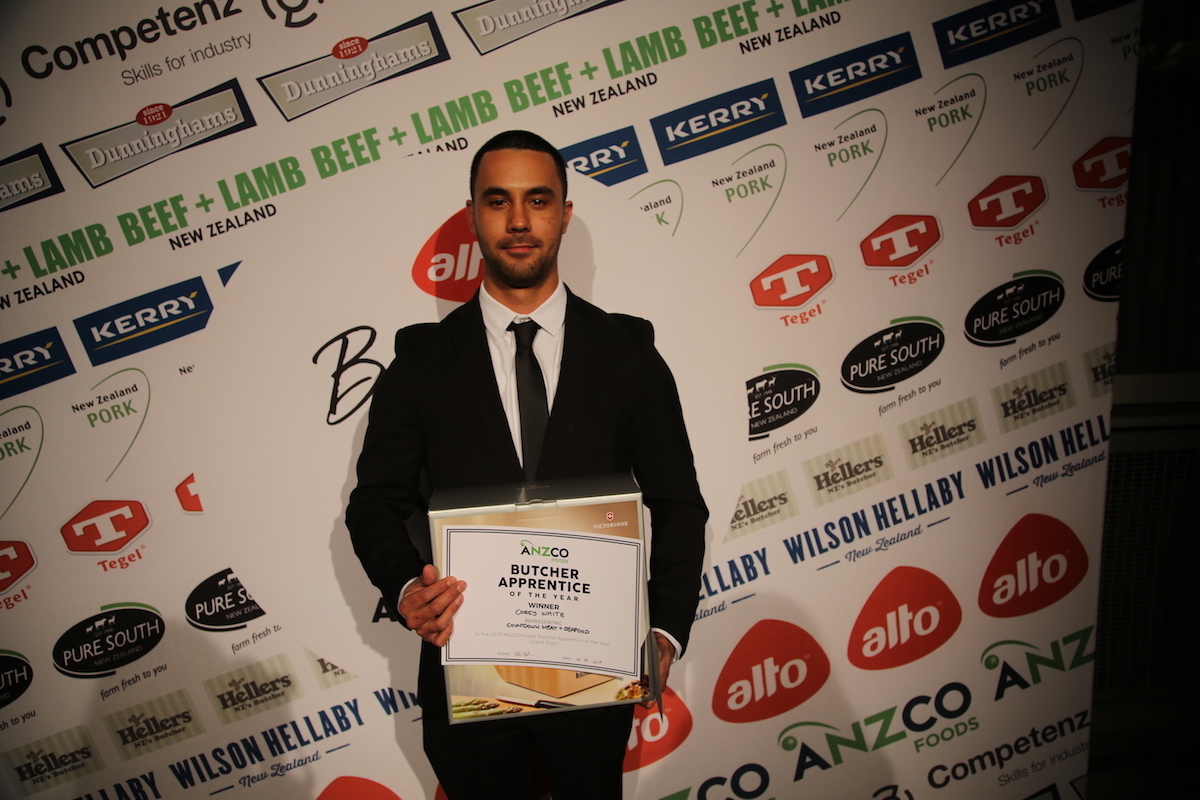 Corey White wins ANZCO Foods Butcher Apprentice of the Year