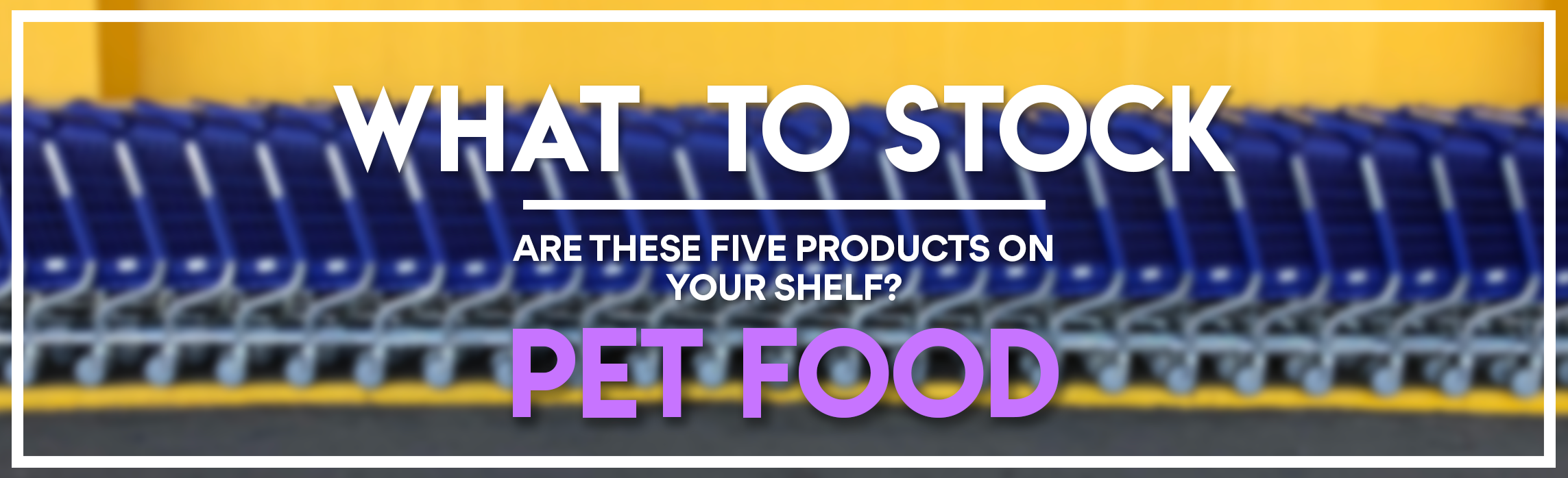 WHAT TO STOCK - PET FOOD