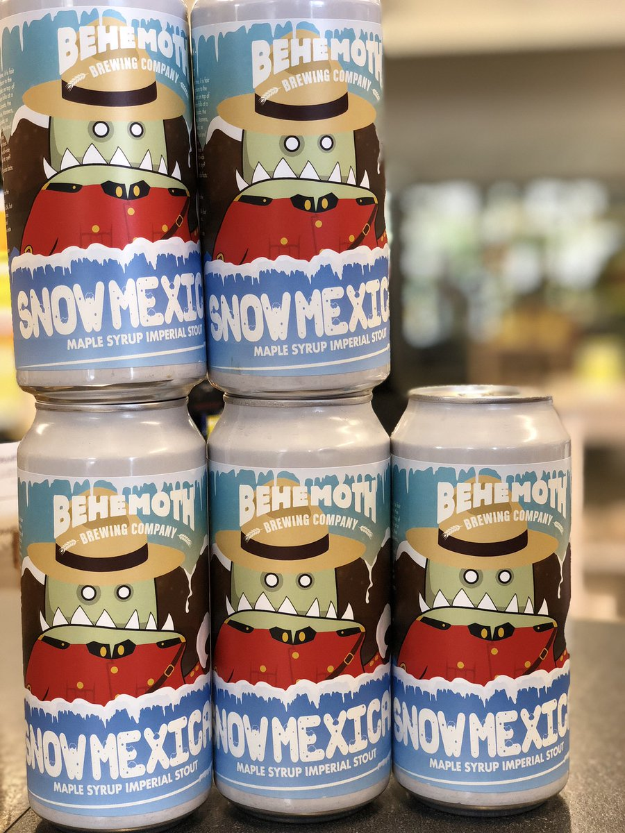 snow mexican beers stack on top of each other