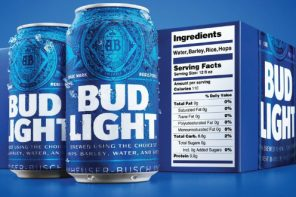 Serving And Ingredients Label For Bud Light
