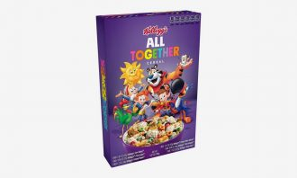 Kellogg's limited-edition All in One cereal in purple box packaging