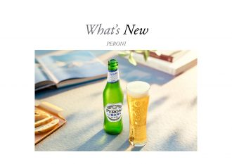 What's New featured image featuring non-alcoholic Peroni beer