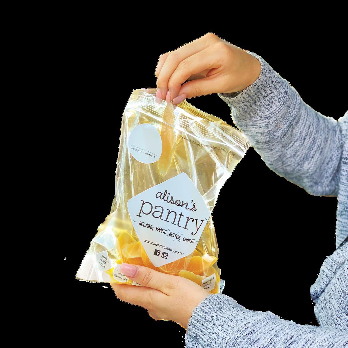 Foodstuffs & Alison's Pantry paper bag trial_hand in existing AP bag