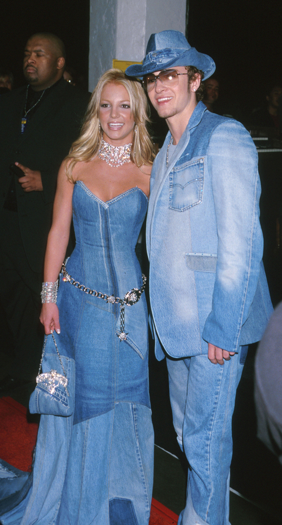 Britney Spears & Justin Timberlake of NSYNC during The 28th Annual American Music Awards at Shrine Auditorium in Los Angeles, California, United States. (Photo by Jeffrey Mayer/WireImage)