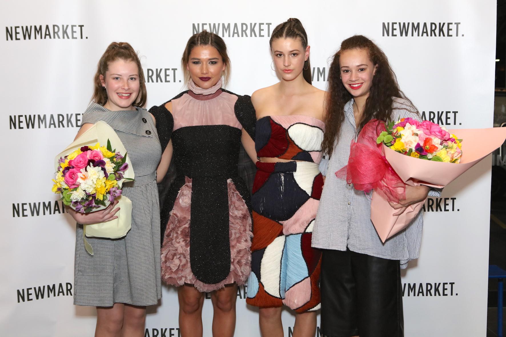 Jodi Walker and Abi Barnes with their winning designs