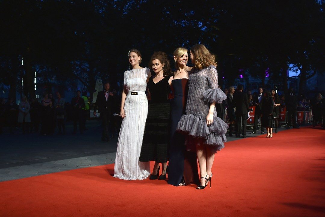 Suffragette stars Romola Garia, Helena Bonham Carter, Anne Marie Duff and Carey Mulligan attend the film's UK premiere in Leicester Square.