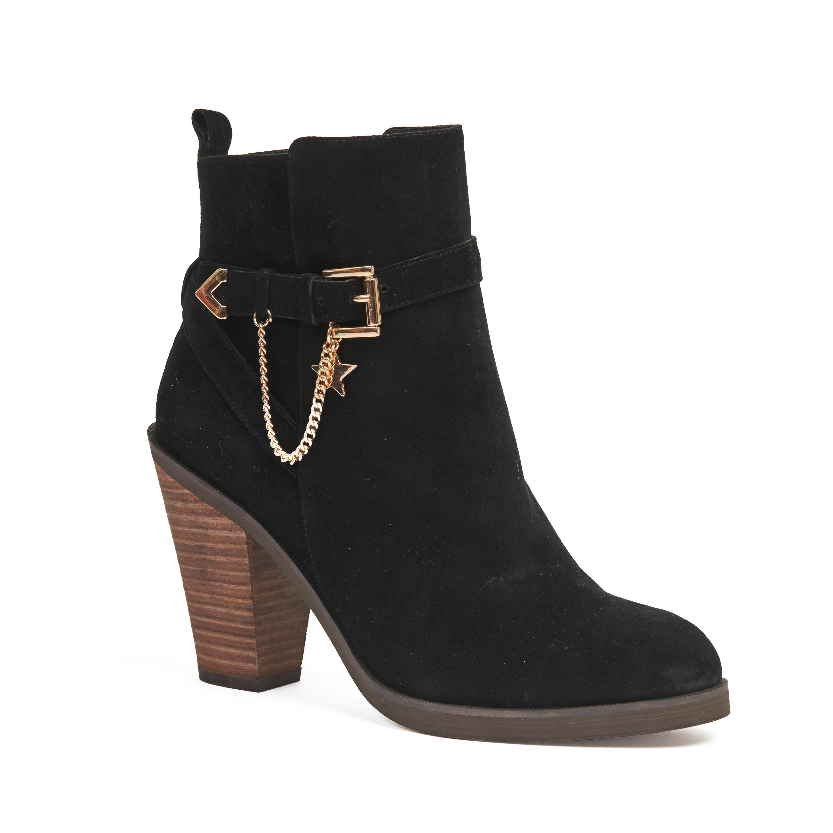 404 Norrie Boot Black Suede