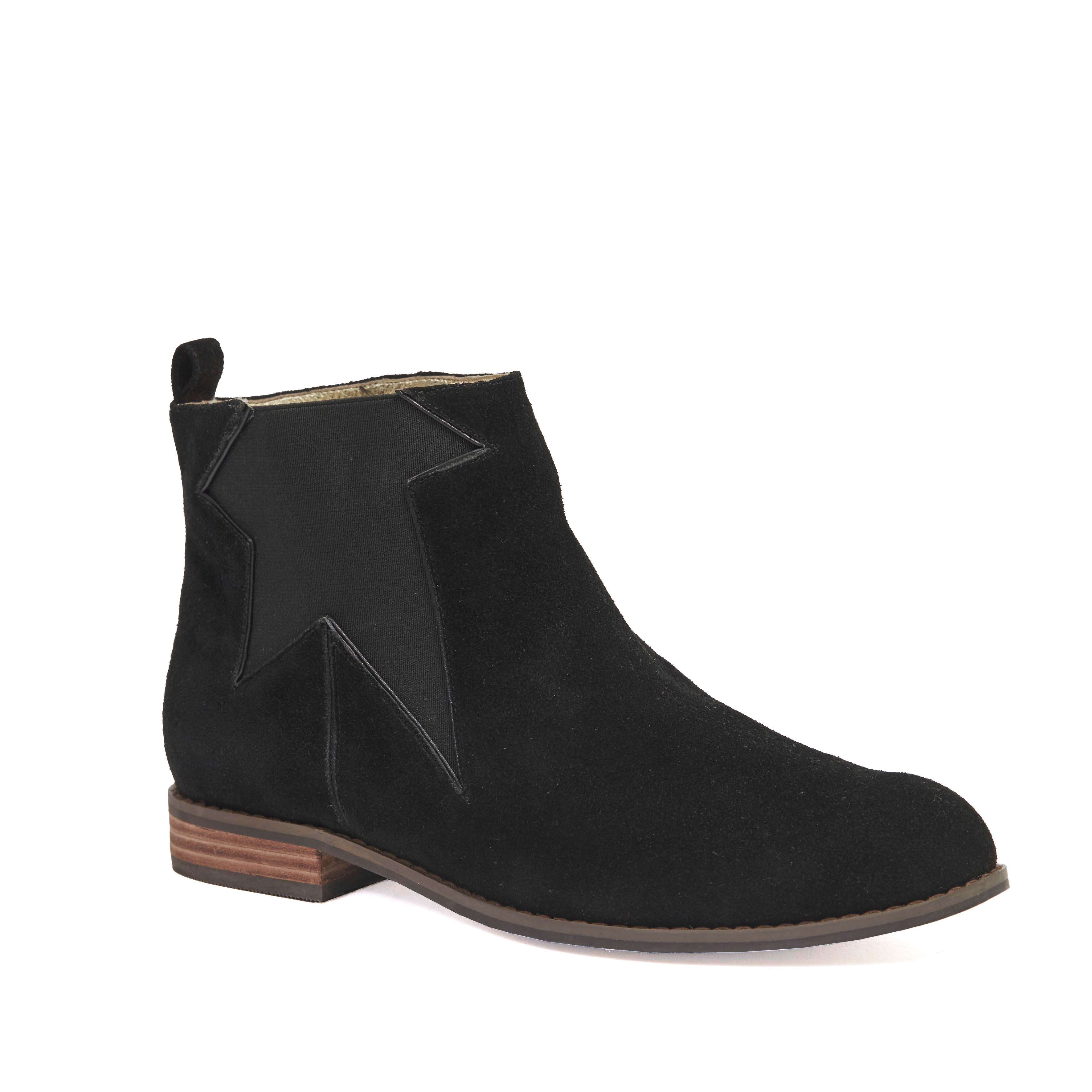410 Kathleen Boot Black Suede