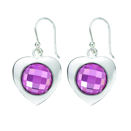 Kagi Gempops Sweetheart Earrings $119 with Fabulous Fuschia Pops $45 each www.gempops.com