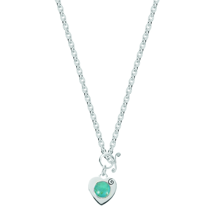 Kagi Gempops Sweetheart Necklace $289 with Tranquil Turquoise Pop $49 www.gempops.com
