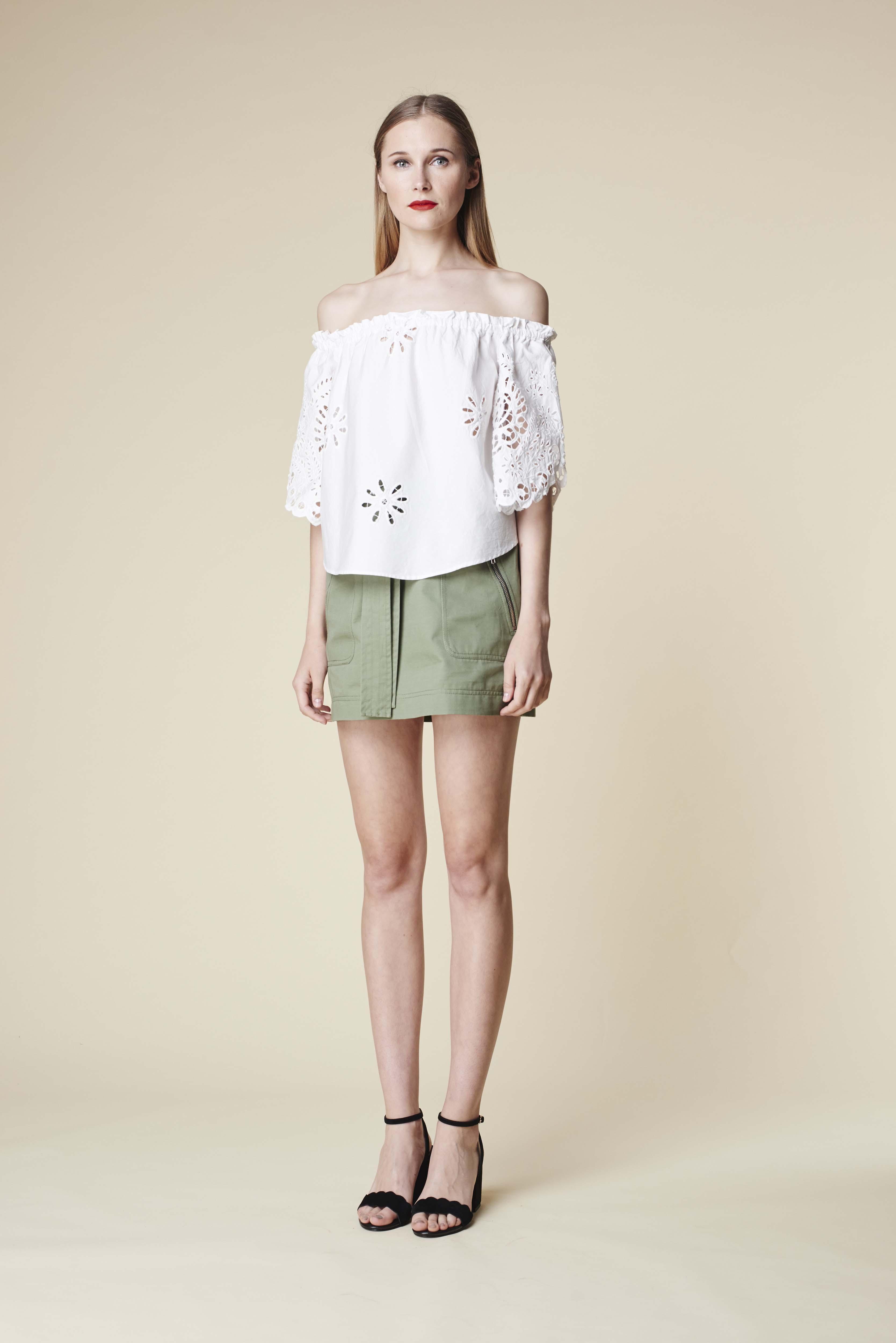 RUBY Aloe Blouse, Zora Miniskirt & Lila Heel