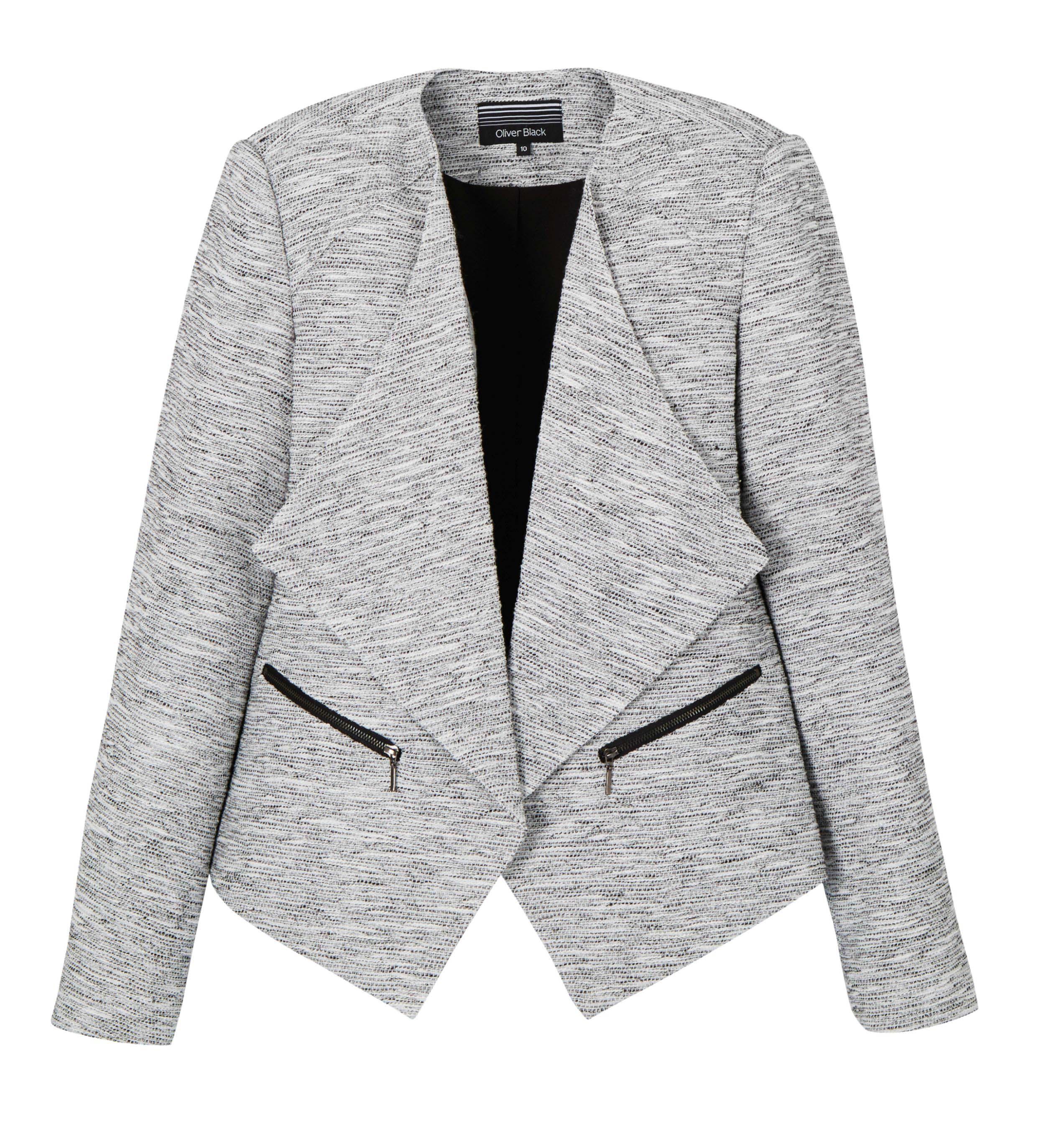 6074755 Oliver Black Jacket Drape Front $149.99 Instore Feb 01 2016