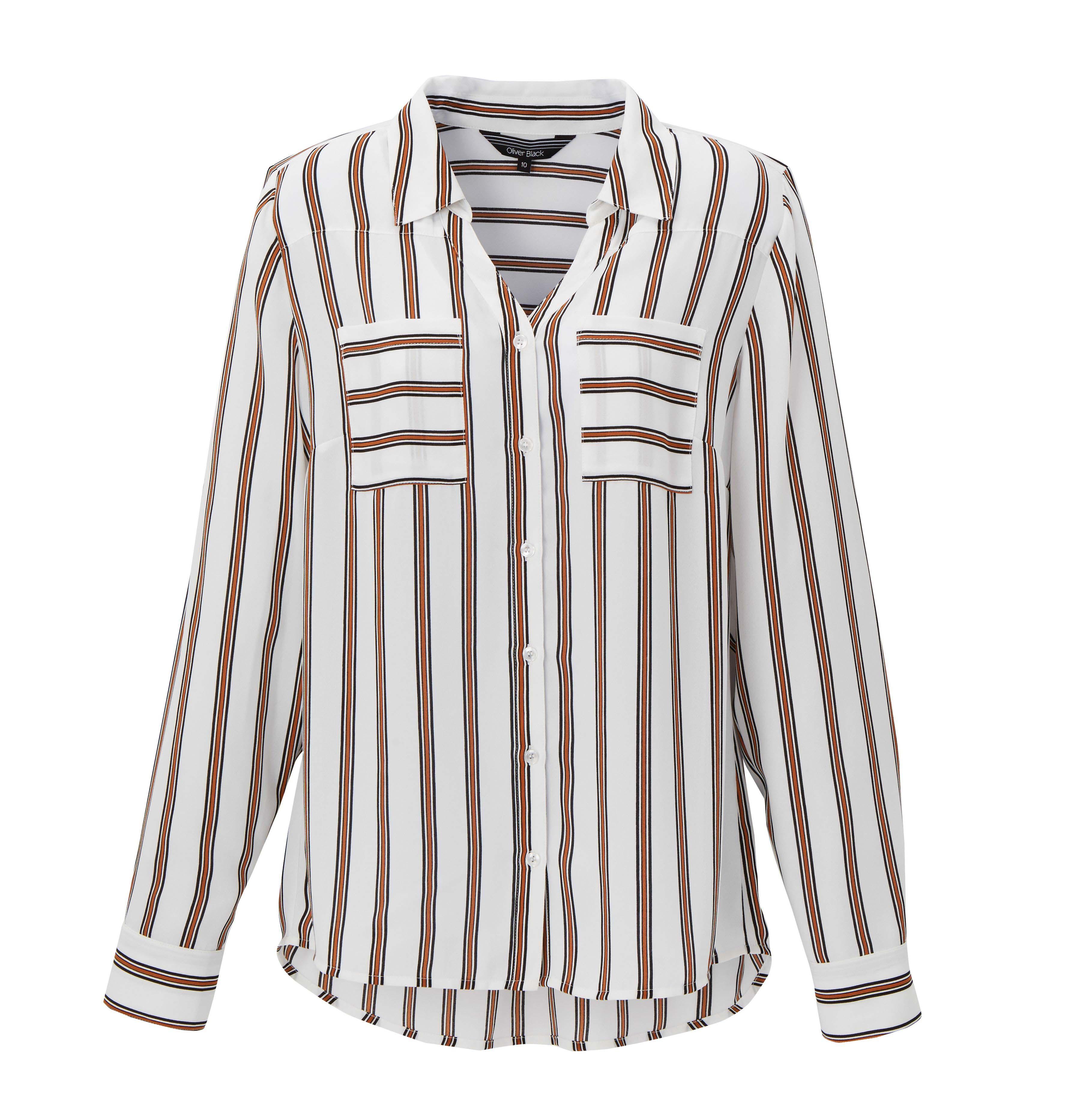 6077846 Oliver Black OB Stripe Black White Shirt $69.99 Instore 4 Feb 2016