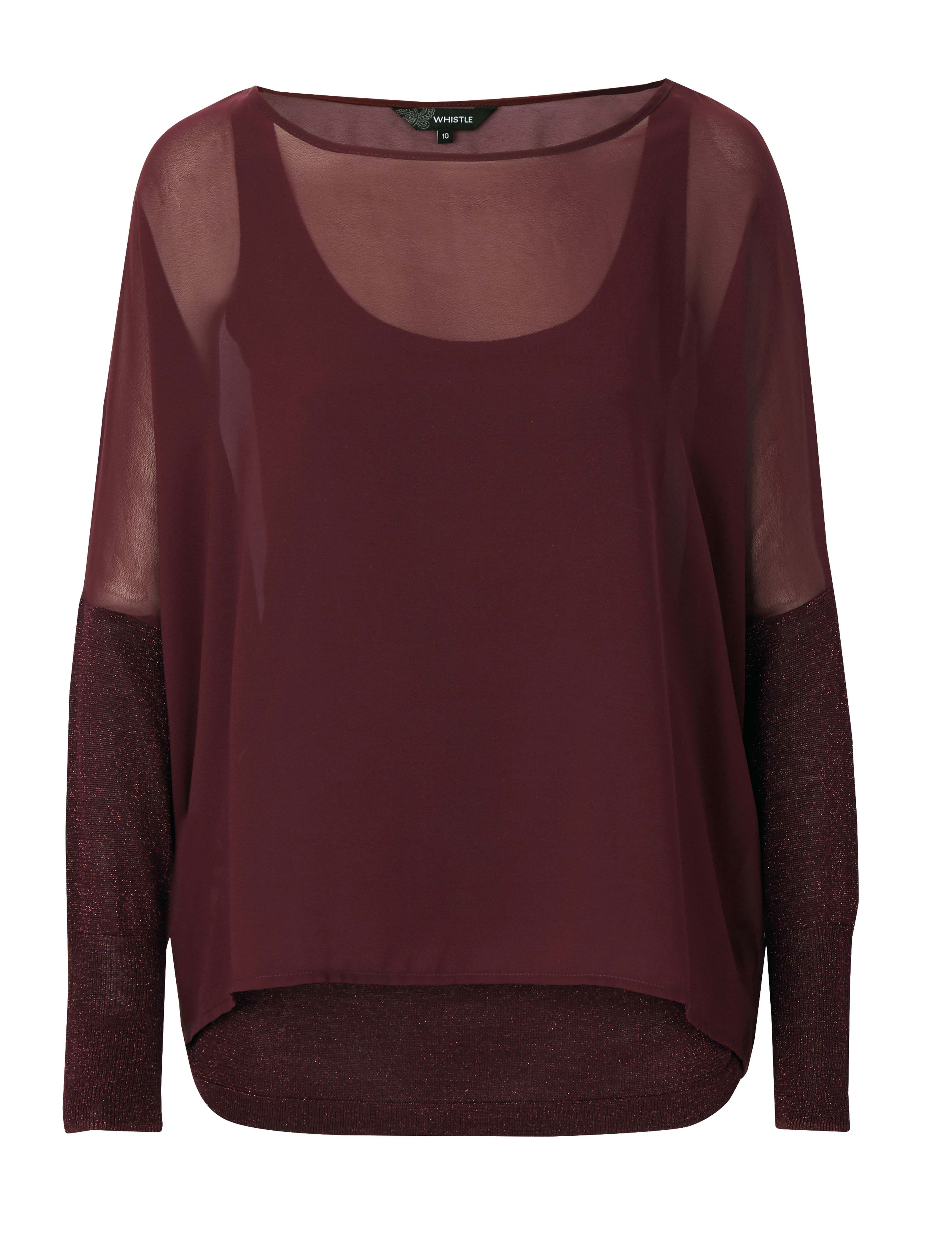 6085434 Whistle Double Layered Luxe Top Berry $79.99 Instore 22 Feb 2016