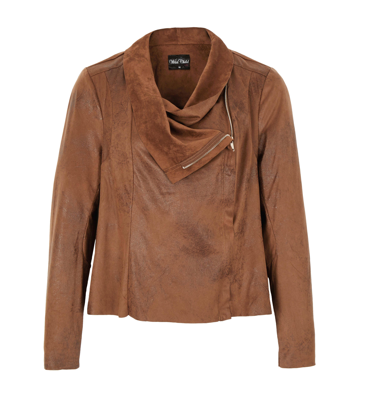 6090143 Wild Child LS Drape Zip Jacket $149.99 Instore Feb 01 2016