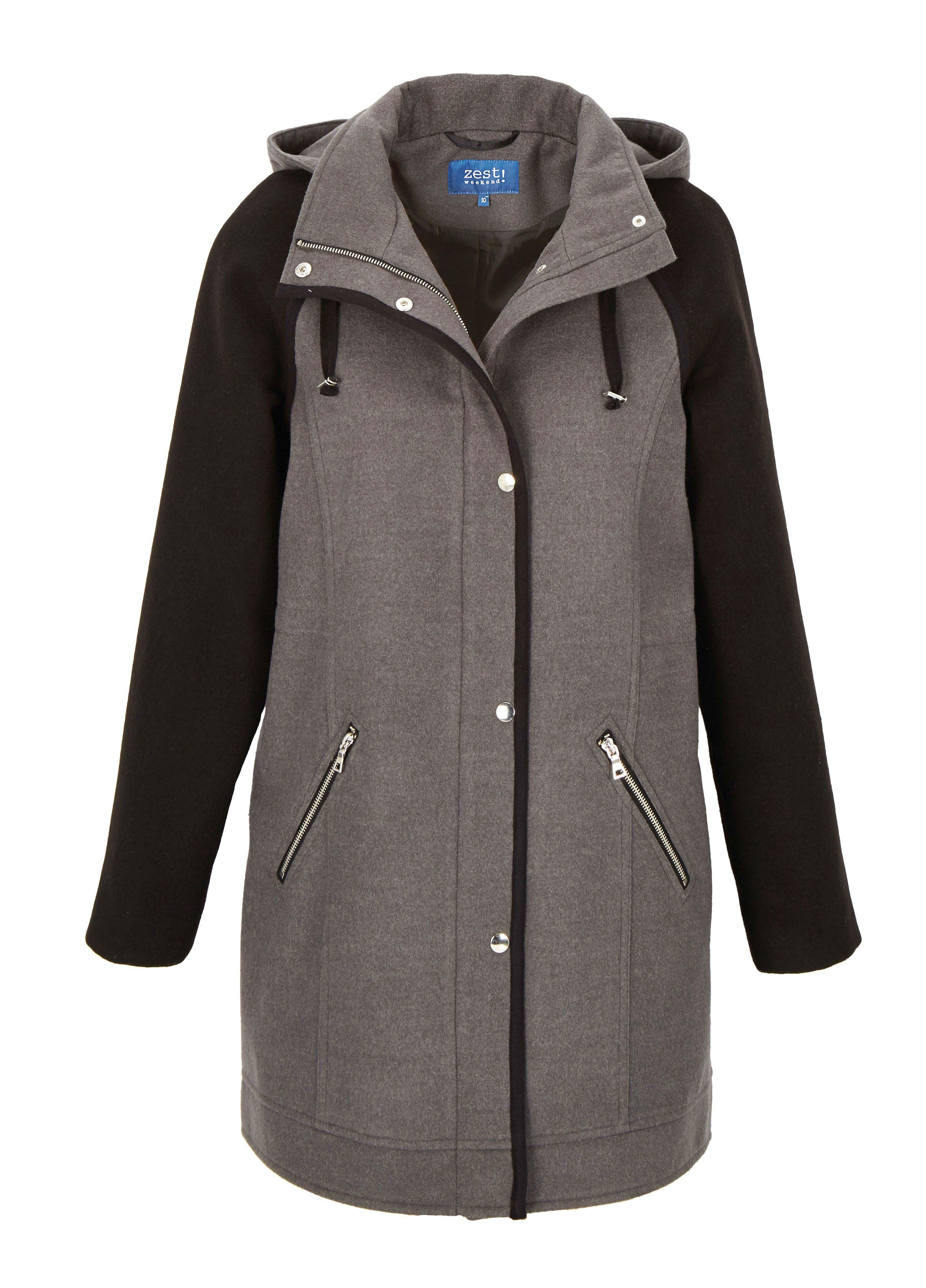 6090156 Zest Hooded Coat $149.99 Instore March 09 2016