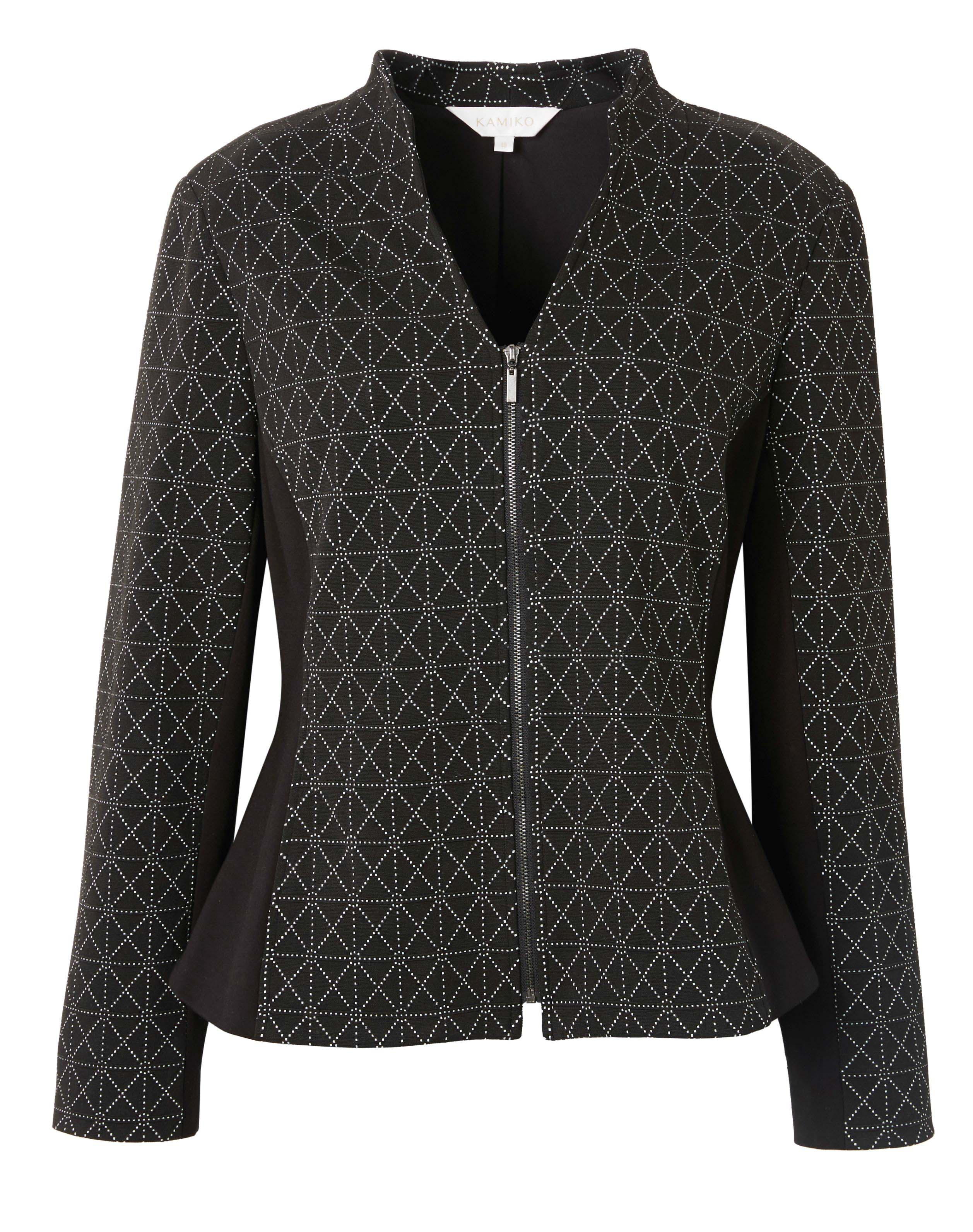 6092610 Kamiko Diamond Print Jacket Black $169.99 Instore 3 Mar 2016