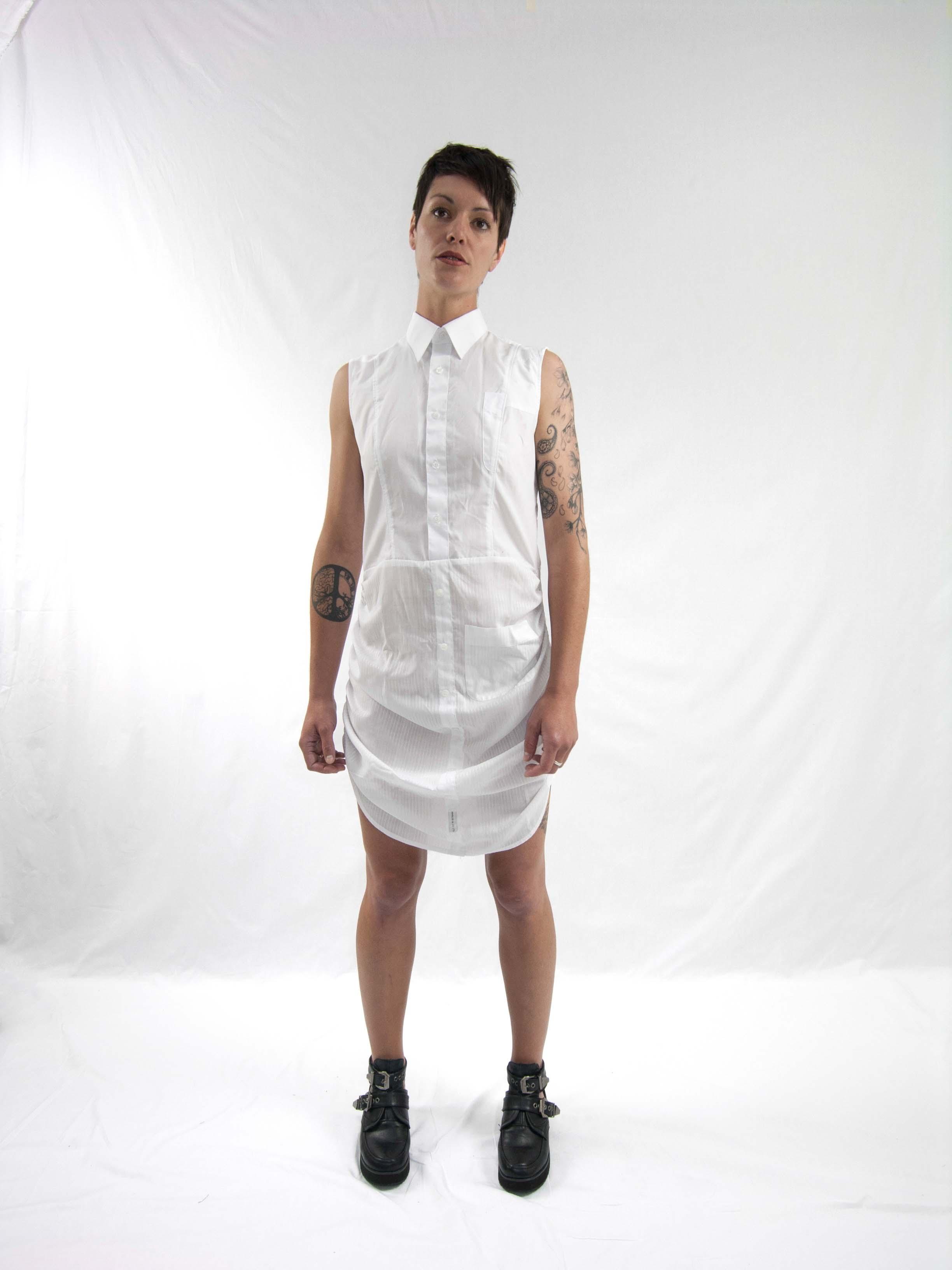 7gathered up dress white (1)