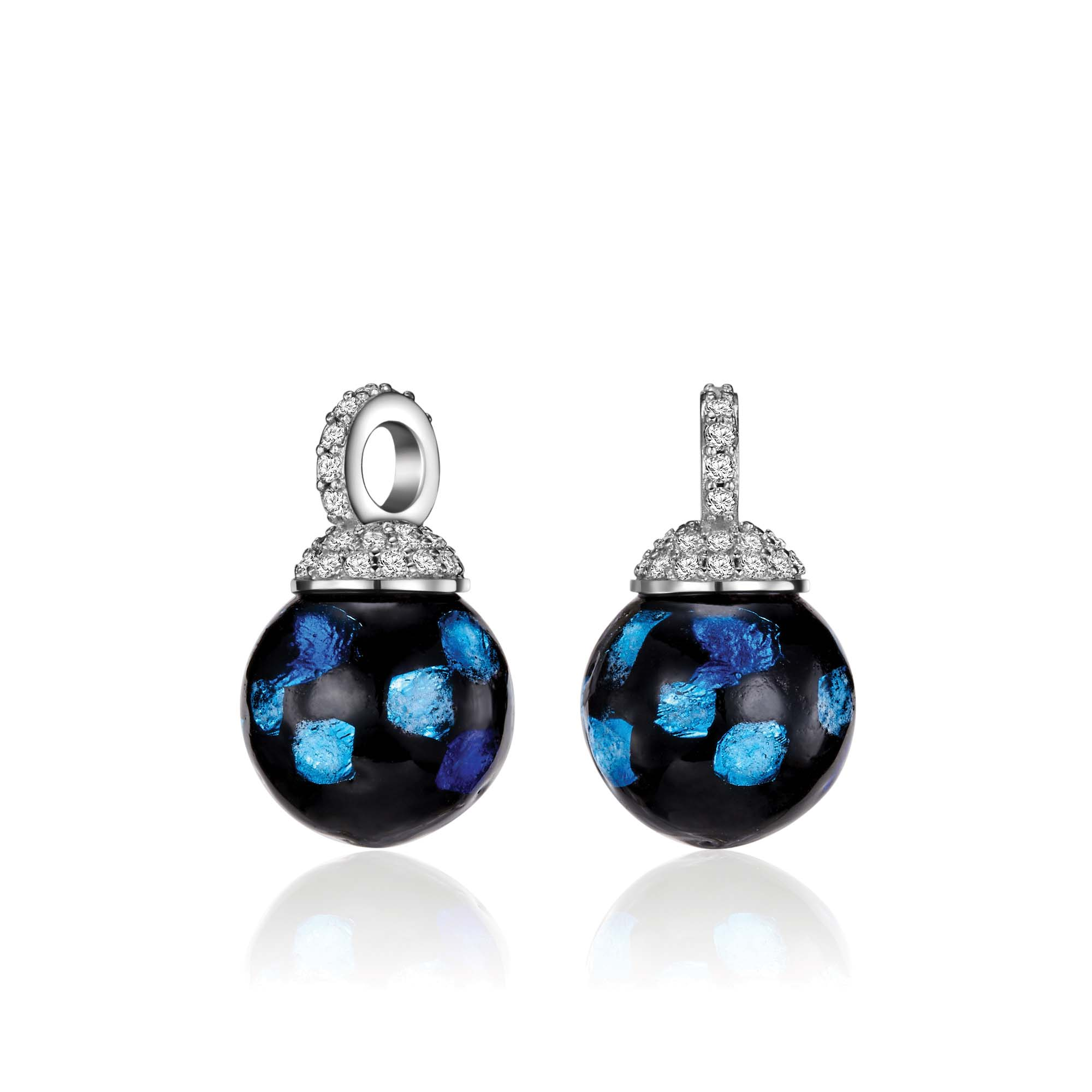 Kagi Blue Danube Drops Earcharms $99 only www.kagi.net