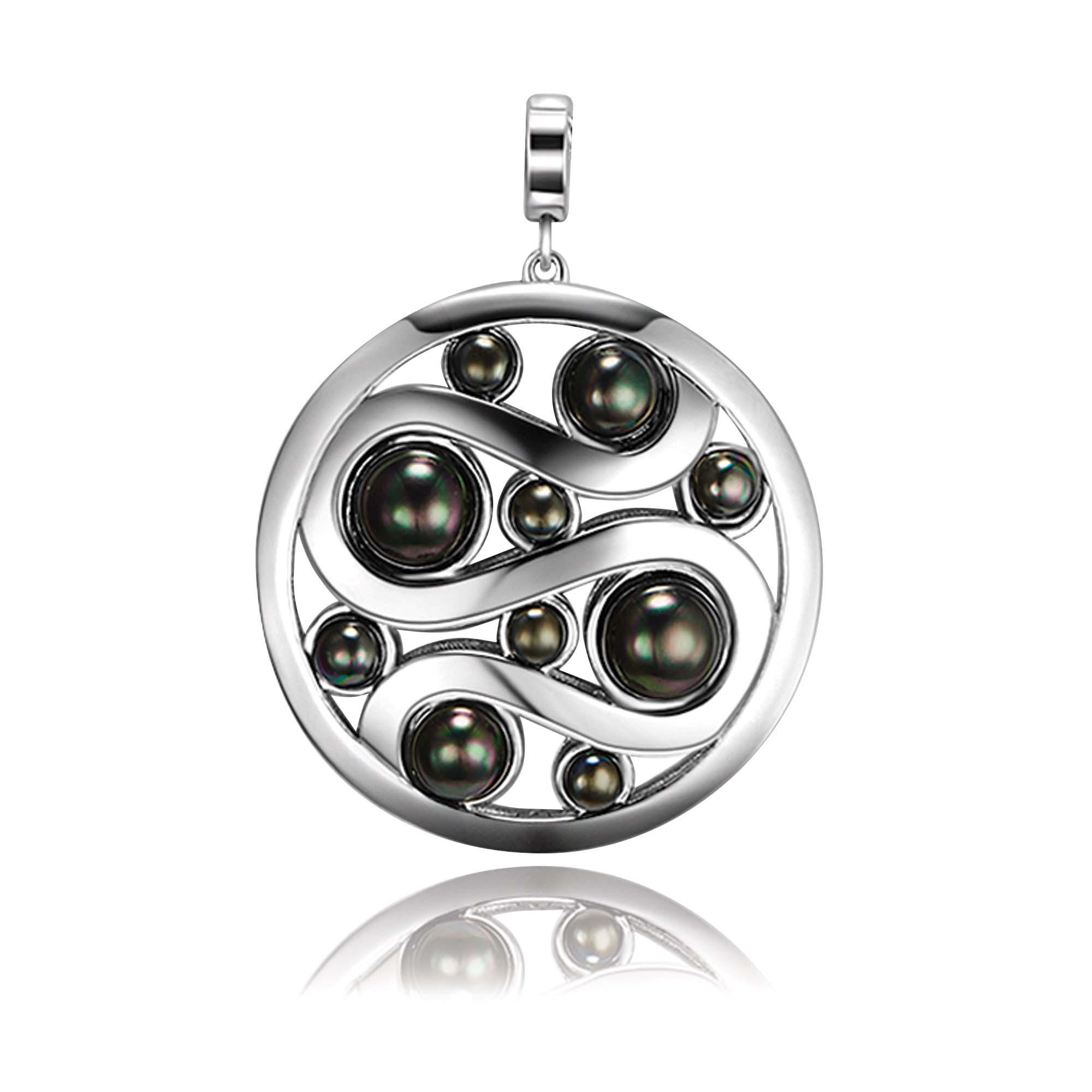 Kagi Mystic Pearl Pendant Black Side $249 www.kagi.net