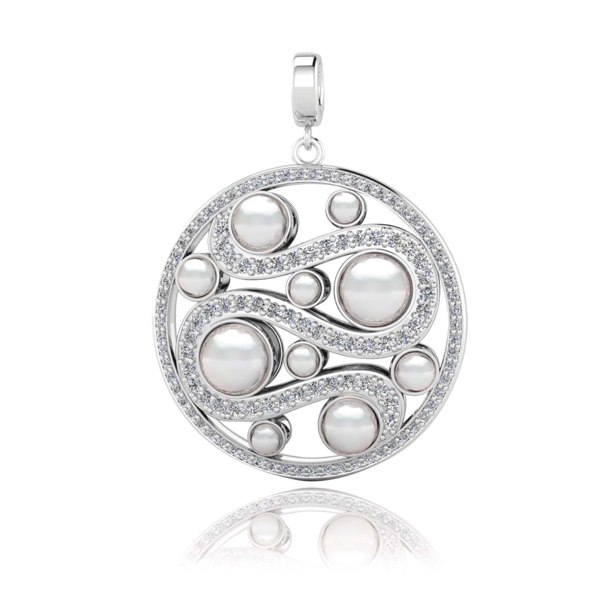 Kagi Mystic Pearl Pendant White Side $249 www.kagi.net